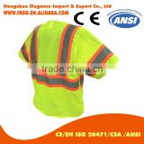 Short Sleeves Hi Vis reflective Safety Jacket Mesh Vest with reflector 3 point tear away