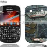 Jeans Skin TPU Cover for BlackBerry Bold 9900. Gel Soft Back Case for Blackberry 9930