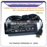 Brand New Laptop Adapter for Lenovo laptop power adapter 20V 3.25A 65w with Square Connector