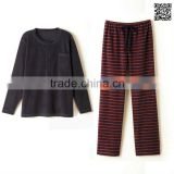 Printing strips warm pajama women