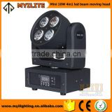 Wholesale mini 10W led beam moving head 4in1 led night club lighting sharpy beam