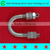 Finely Processed Good Quality Product Stainless Steel Galvanized U Bolt for Power Line Hadware Fittings, WeiChuang Product