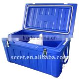 90 QT Roto-molded ice box, Ice Chest in blue color
