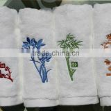 soft 100% cotton embroider bath towel baby/for baby