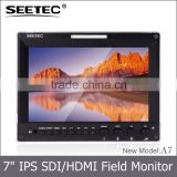 Camera-top display aluminum design ips panel HDMI 3G-SDI input and output 7 inch hdmi led monitor