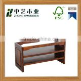 Wholesale natural colour high quality art minds classic homemade custom wooden shoe racks