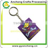 Square Shaped Embossed and Color-filled PVC Material PVC Keychain/Custom Embossed Soft PVC Rubber Innovative Keychain