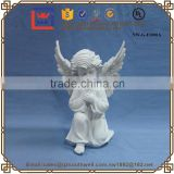 Garden Decoration White Poly Resin Angle Baby Statue Porcelain Angel Figurine