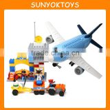 Environmental Blocks For Games Children's ! 69PCS Airport Theme Le Building Blocks Set mega blocks