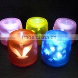 006 Remote Control charater Changing LED Flameless Candle Light
