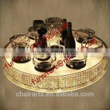 shanghai commercial furniture Christmas banquet hall table acrylic rotating Lazy susan