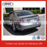 CF trunk lip spoiler, carbon fiber lip spoiler , rear lip spoiler Fit for 2010-12 MERCEDES W204