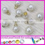 2015 new design crystal pearl beads for earring making or jewelry decoration