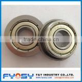 inch metric size flanged deep groove ball bearing FR, F, MF series F 606ZZ,