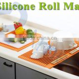silicone household products tools kitchenware dishes drainer kitchen sink roll mat foldable glass cup plate rack 75761