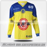 OEM design cheap european hockey jersey with personized style
