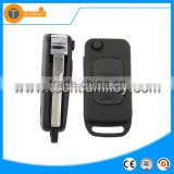 2 track blade 2 button modified folding flip remote key blank case shell for Mercedes Benz
