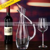 Hand Crafted Slanting Mouth Water Wine Crystal Cut Glass Decanter