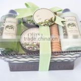 Bath gift set(body lotion,shower gel, bubble bath,body scrub,bath salt)