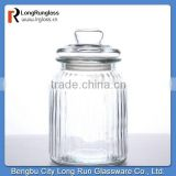 LongRun 10oz nice design Vintage-Style Glass Jar with glass lid Glassware factory supply