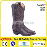 Made in China waterproof western cowboy boots, western cowboy boots for men, leather western boots cowboy manufacturer (SA-N007)