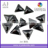 Jet Sew-on Flat Back Glass Stones for dance dress