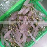 wholesale natural clear/rose crystal wand messager