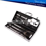 5 Piece Stainless Steel BBQ Grill Tool set with Aluminum Case SS-BBQ124