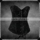 2014 New Fashion Gothic Black Steel Bone Gorgeous overbust corset 7398