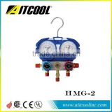two-valve manifold gauge set with HMG-2-R410A/HMG-2-R134a/HMG-2-1234yf/HMG-2-R32
