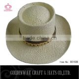 Australia straw surf hat men/mens cowboy straw hat promotional/Custom hand made straw hats