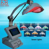 PDT/LED collagen light therapy with red,blue,yellow,green,purple,orange,laser lights,led pdt