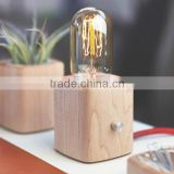 Wooden base table lamp creative small LED acrylic stereoscopic shaped night light eco-friendly desk lamp