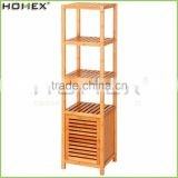 5 Tier Natural Bamboo Floor Tower Storage Cabinet Multifunctional Display Rack/Homex_FSC/BSCI Factory
