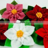 2017 new hot cheap craft wholesale beautiful handmade felt decorative headband bulk import China artificial small fabric flowers