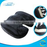 Velvet Fabric Cover Soft Memory Foam Comfortable Car Cushion, also for Haemorrhoids Seating