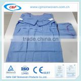 Medical Nonwoven Sterile Disposable Surgical Gown For Patient/Non Woven Surgical Gown/cheap disposable medical gowns