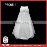P6066-1 Elegant Wedding Tulle Petticoat with One Hoop for Bridal