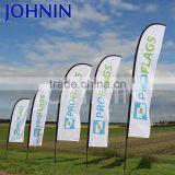 OEM Durable 110g Knitted Polyester Digital Printing Custom Design Beach Flag Feather Flag For Advertising