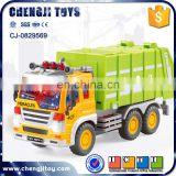 Hot selling friction powerful car plastic toy garbage truck for sale