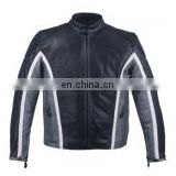 Mens Leather Biker Jacket HMB-0404D