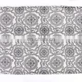 Indian Latest 3 X 5 Ft Black White Cotton Block Print Accent Area Dhurrie Rug Flat Weave Hand