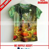 All over printed kids tshirt wholesale manufacturer