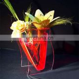 White clear Lucite plastic Acrylic Vase,Plexiglass acrylic flower stand