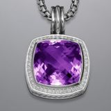 Sterling Silver 925 17mm Amethyst Albion Enhancer