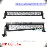22inch 10pcs*10w led light bar with spot beam 8 degree and flood beam 90 degree
