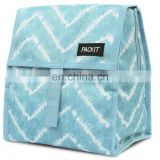 Functional Pattern Cooler Box Portable Insulated Canvas Lunch Bag Thermal Food Picnic Lunch Bags For Women Kids