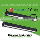 Massive discount for new product IP66 LED Linear high bay light 200w CE/RoHS 110lm/w for warehouse use