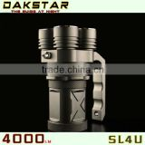 DAKSTAR New Arrival SL4U CREE XML2 U2 4000LM 18650 Aluminum High Power Rechargeable LED Torch Light