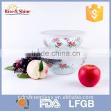 Transparent heat resistant plastic round bowl wirh lid for microwave oven